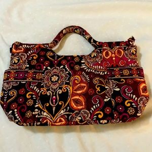 Vera Bradley Safari Sunset Handbag with zipper